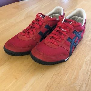 Asics Onitsuka Tiger Red Shoes Size 6